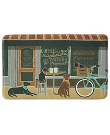 "Coffee And Friends Memory Foam Rectangle 22""x35"" Accent Rug"