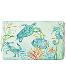 "Sea Serenade Memory Foam Rectangle 22""x35"" Accent Rug"