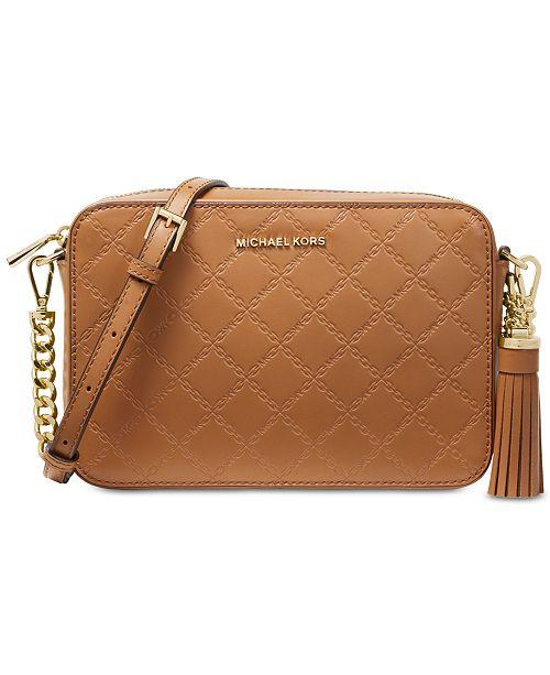 73b02cfbced4 Michael Kors Chain Embossed Leather Camera Bag & Reviews - Handbags ...