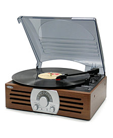 3-Speed Stereo Turntable with Pitch Control and AM-FM Stereo Radio