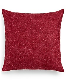 "Red Luxe Border 18"" x 18"" Decorative Pillow, Created for Macy's"