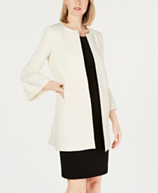 Nine West Bell-Sleeve Crepe Topper