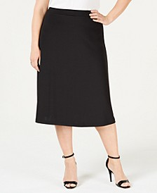 Plus Size A-Line Midi Skirt
