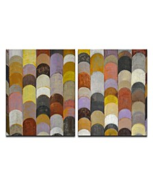 'Scaled I/II' 2 Piece  Canvas Wall Art Set