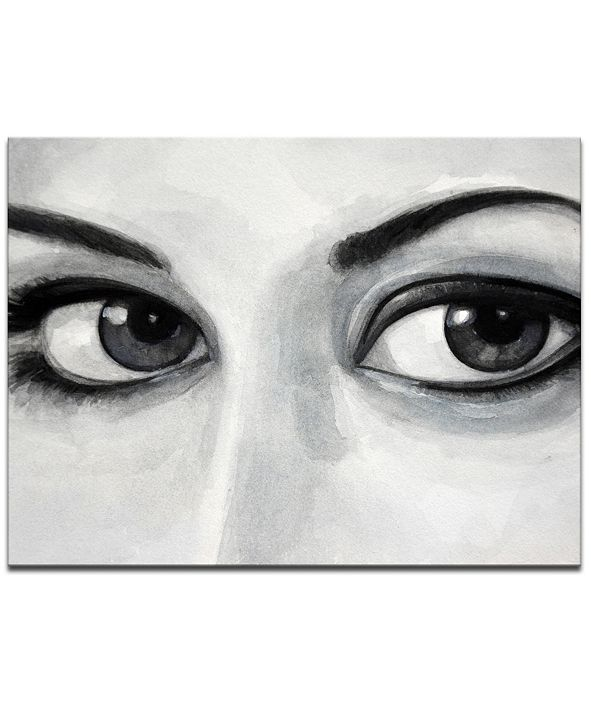 Ready2HangArt 'Temptation II' Eyes Canvas Wall Art, 20x30""