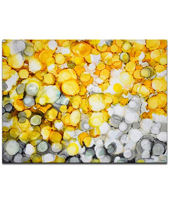 Ready2HangArt 'Lake Yellow' Canvas Wall Art, 20x30""