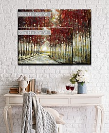 'Fall Morning Drive' Canvas Wall Art Collection