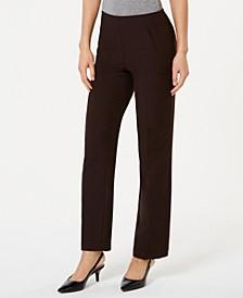 Petite Tummy-Control Straight-Leg Pants, Created for Macy's