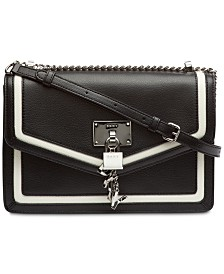 DKNY Elissa Leather Shoulder Flap, Created for Macy's