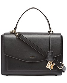 Lex Leather Top Handle Satchel, Created for Macy's
