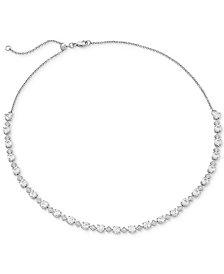 "Arabella Swarovski Zirconia 16"" Collar Necklace in Sterling Silver"