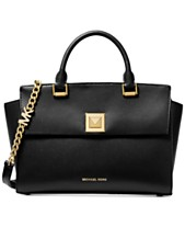 45e9be55eff21f MICHAEL Michael Kors Sylvia Crossgrain Leather Top Zip Satchel
