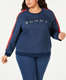 Tommy Hilfiger Sport Plus Size Cotton Logo Sweatshirt