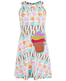 Us Angels Big Girls 2-Pc. Ice Cream-Print Dress & Purse Set