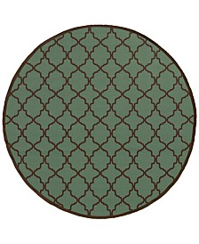 "Oriental Weavers Riviera 4770 7'10"" Indoor/Outdoor Round Area Rug"