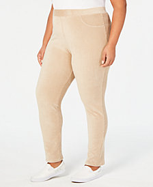 Alfred Dunner Home for the Holidays Plus Size Corduroy Leggings