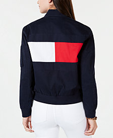 Tommy Hilfiger Logo Bomber Jacket, Created for Macy's