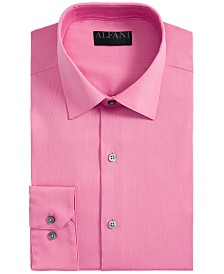 AlfaTech by Alfani Men's Athletic Fit Bedford Cord Dress Shirt, Created For Macy's