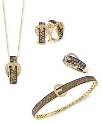 Le Vian Jewelry Chocolate Diamond Buckle Jewelry Ensemble in 14k