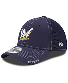 New Era Milwaukee Brewers Core Neo 39THIRTY Stretch Fitted Cap
