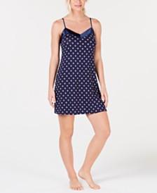 Alfani Ultra Soft Satin Trim Knit Nightgown Created for Macy's