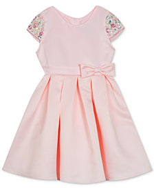Rare Editions Toddler Girls Beaded Sleeve Dress