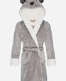 Kids Hooded Fleece Sherpa Robe, Large