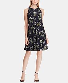 Lauren Ralph Lauren Petite Floral-Print Crepe A-Line Dress