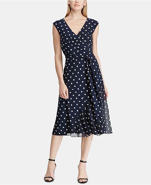 eda7be063c8d5 Lauren Ralph Lauren Polka-Dot Dress & Reviews - Dresses - Women - Macy's