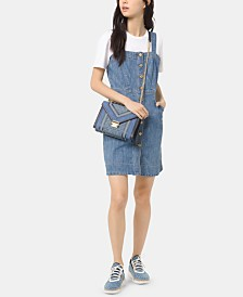MICHAEL Michael Kors Button-Front Denim Dress, Regular & Petite