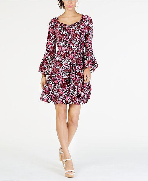 e1cd3fa3c Michael Kors Mod Garden Smocked-Neck Dress & Reviews - Dresses ...