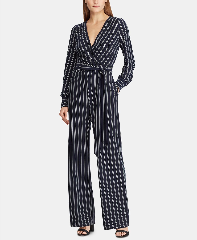 stripe petite size jumpsuit