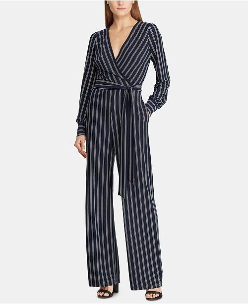3e5e8cce40c5 Lauren Ralph Lauren Petite Striped Jumpsuit   Reviews - Dresses ...