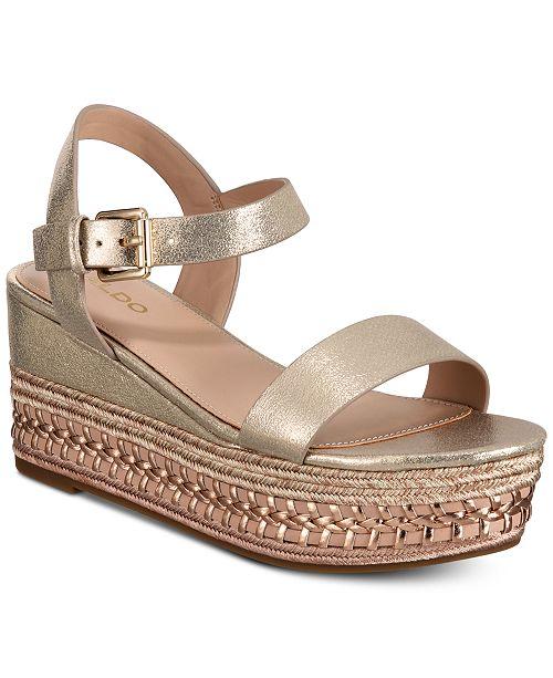 8ee2112f530 ALDO Mauma Wedge Sandals   Reviews - Sandals   Flip Flops - Shoes ...
