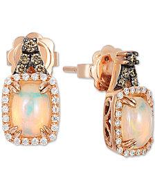 Le Vian® Neopolitan Opal (3/4 ct. t.w.), Vanilla & Chocolate Diamond (1/4 ct. t.w.) Stud Earrings in 14k Rose Gold