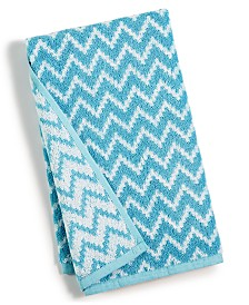 "CLOSEOUT! Cobra Chevron Cotton 18"" x 28"" Hand Towel"