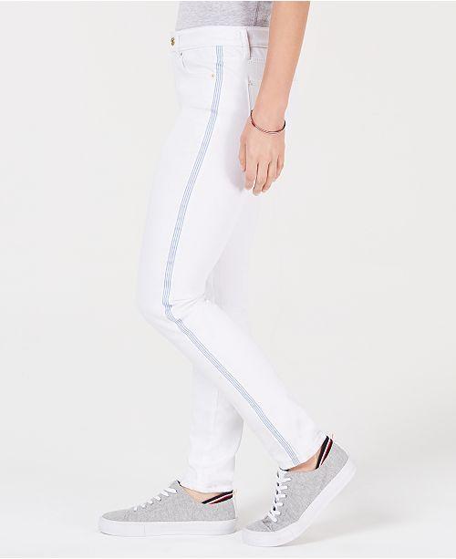 228dcded Tommy Hilfiger Side-Stripe Skinny Jeans & Reviews - Jeans - Women ...