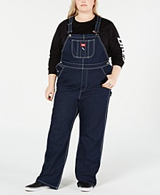 Trendy Plus Size Cotton Carpenter Overalls