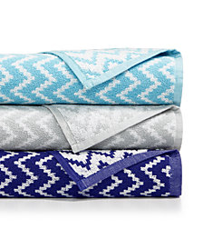 CLOSEOUT! Cobra Chevron Cotton Bath Towel Collection