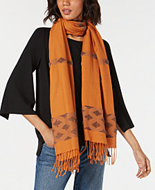 Eileen Fisher Cotton Fringe Wrap