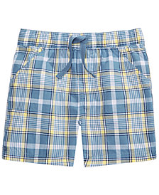 First Impressions Toddler Boys Coastal Plaid Cotton Shorts, Created for Macy's