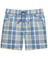 f4f8251f4 First Impressions Baby Boys Coastal Plaid Cotton Shorts
