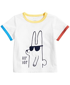 First Impressions Baby Boys Hip Hop Bunny Graphic T-Shirt, Created for Macy's