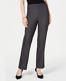 Petite Tummy-Control Straight-Leg Pants, Created for Macy's