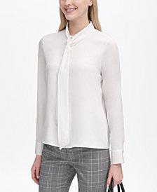 Calvin Klein Tie-Neck Blouse