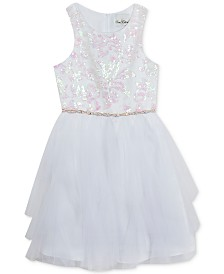 Rare Editions Big Girls Sequin Bodice Dress