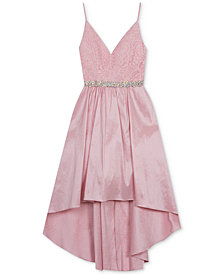 Rare Editions Big Girls Lace High-Low Hem Dress