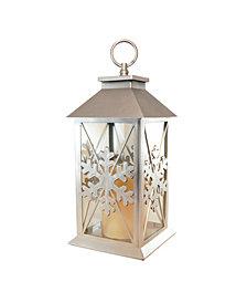 LumaBase Snowflake Lantern with Battery Operated LED Candle