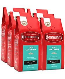 100% Colombia Altura Medium-Dark Roast Premium Ground Coffee, 12 Oz - 6 Pack