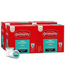 100% Colombia Altura Medium-Dark Roast Single Serve Pods, Keurig K-Cup Brewer Compatible, 72 Ct